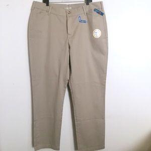 Riders by Lee Easy Care Tan Khaki Pants 22 Long